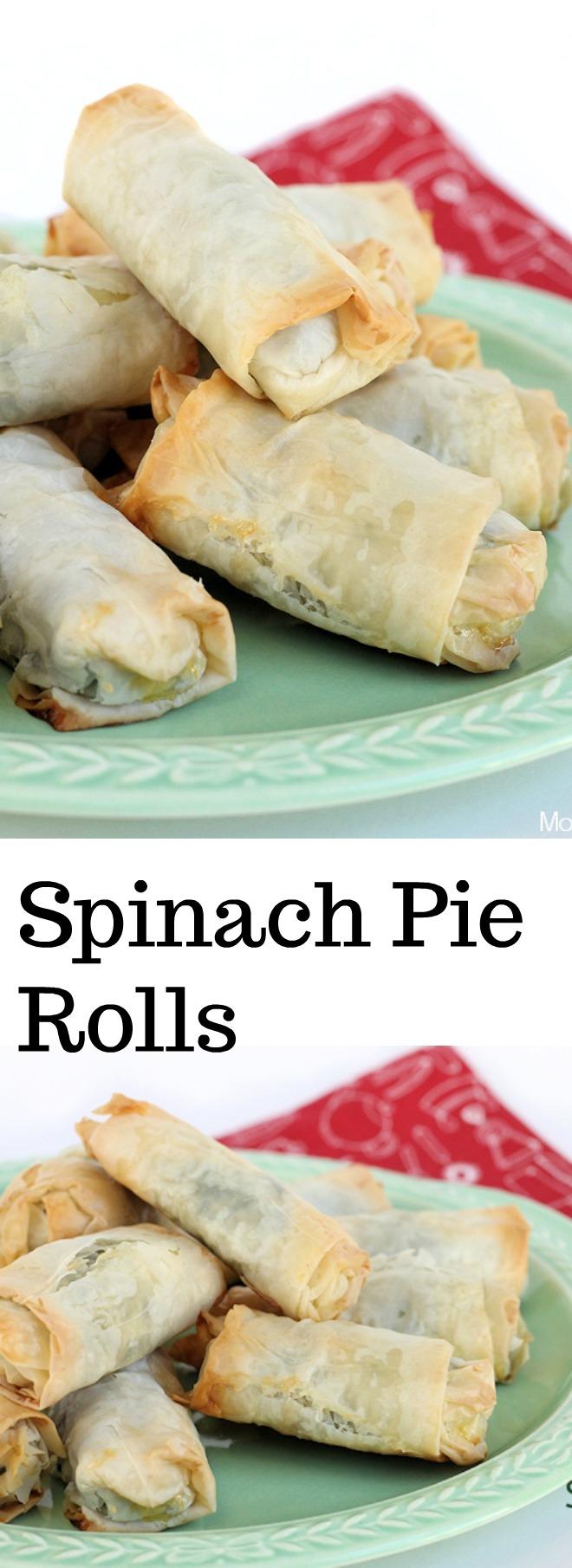 Spinach Pie Rolls - appetizer recipe