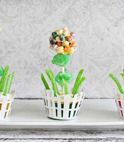 Trix Spring Flowers Cupcakes