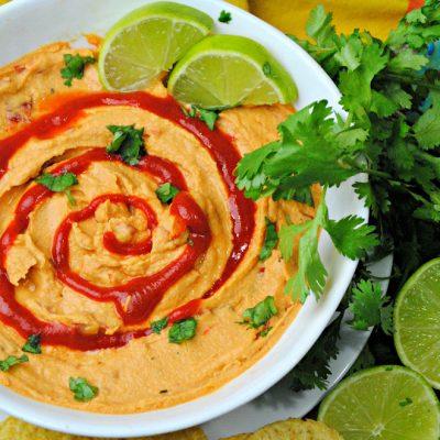 Sriracha Lime Hummus: A Hot & Tangy Bean Dip