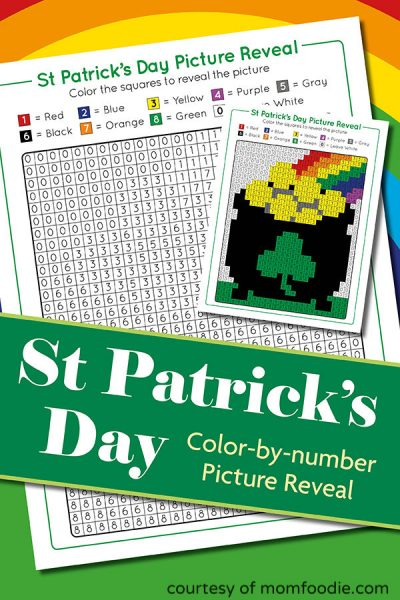 St. Patricks Day Color by Number Activity Sheet