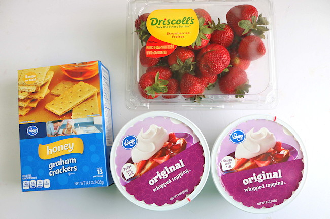 Strawberry Icebox Cake Ingredients