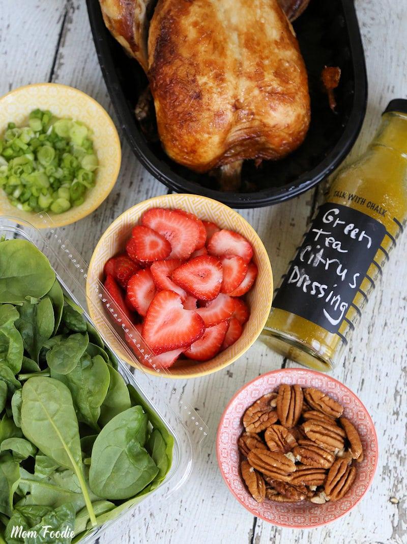 Strawberry Pecan Chicken Salad ingredients