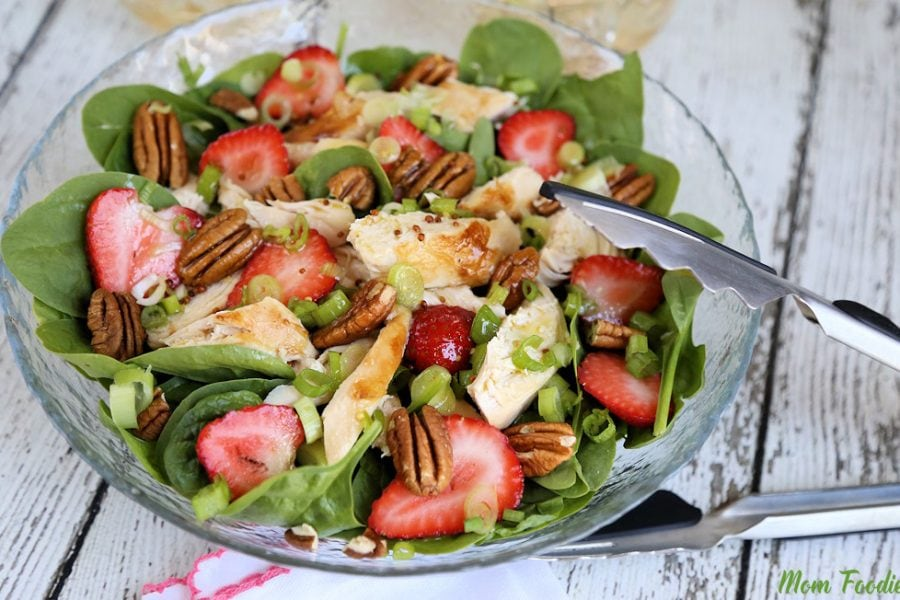 Strawberry Pecan Chicken Salad w Green Tea Citrus Vinaigrette