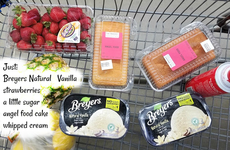 Strawberry Shortcake Sundae ingredients