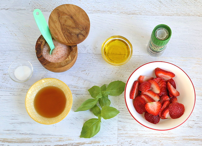 Strawberry Vinaigrette ingredients