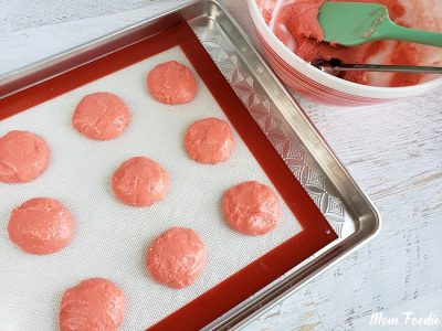 Strawberry cake batter cookies