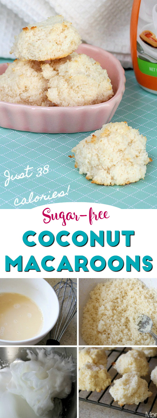 Sugar-Free Coconut Macaroons : low carb, 38 calories each