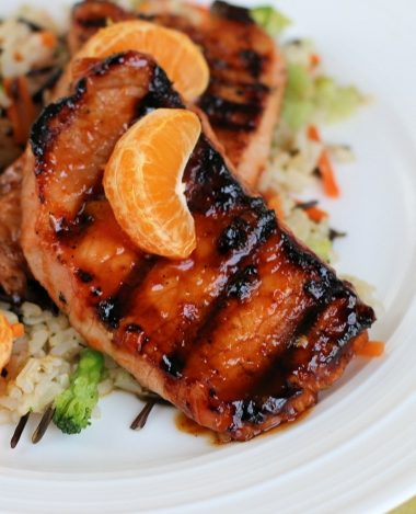 Sweet Chili-Orange Glazed Grilled Pork Chops Recipe