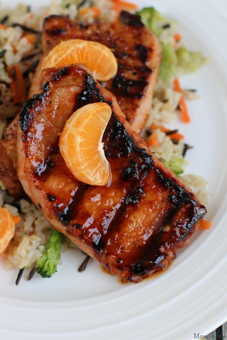 Sweet Chili-Orange Glazed Grilled Pork Chops