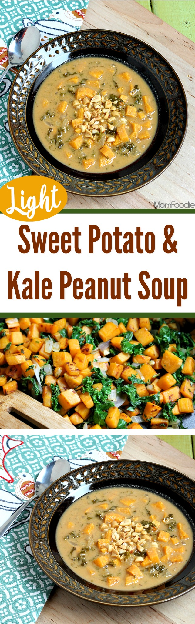 Sweet Potato & Kale Peanut Soup