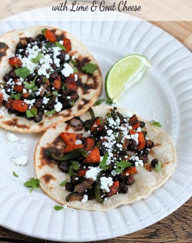 Sweet Potato Poblano Black Bean Tacos