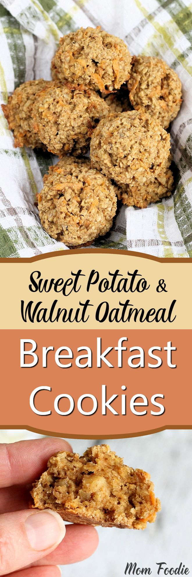 Sweet Potato & Walnut Oatmeal Breakfast Cookies