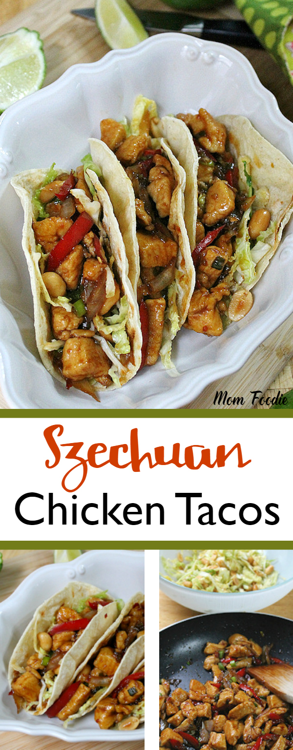 Szechuan Chicken Tacos recipe