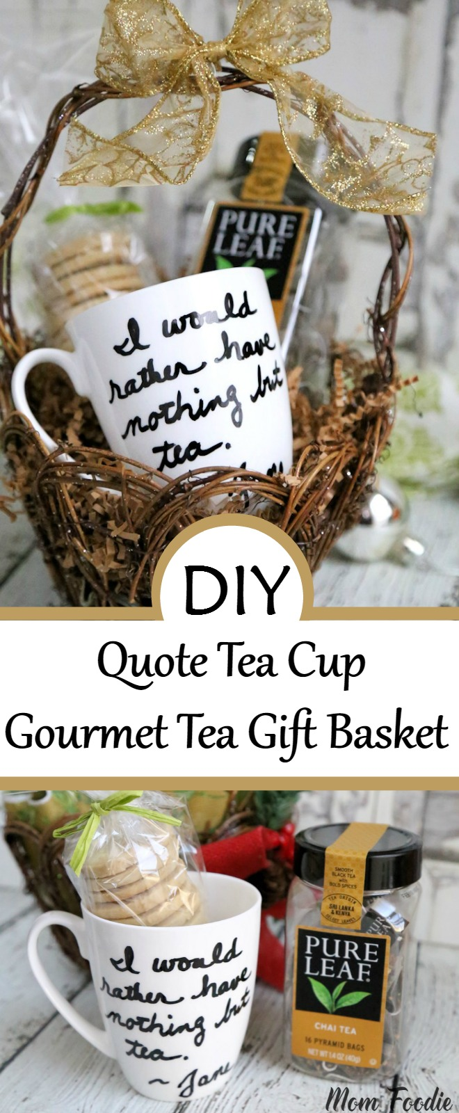 Make a Gourmet Tea Gift Basket w/ DIY Quote Tea Cup & Cardamom Spice Cookies