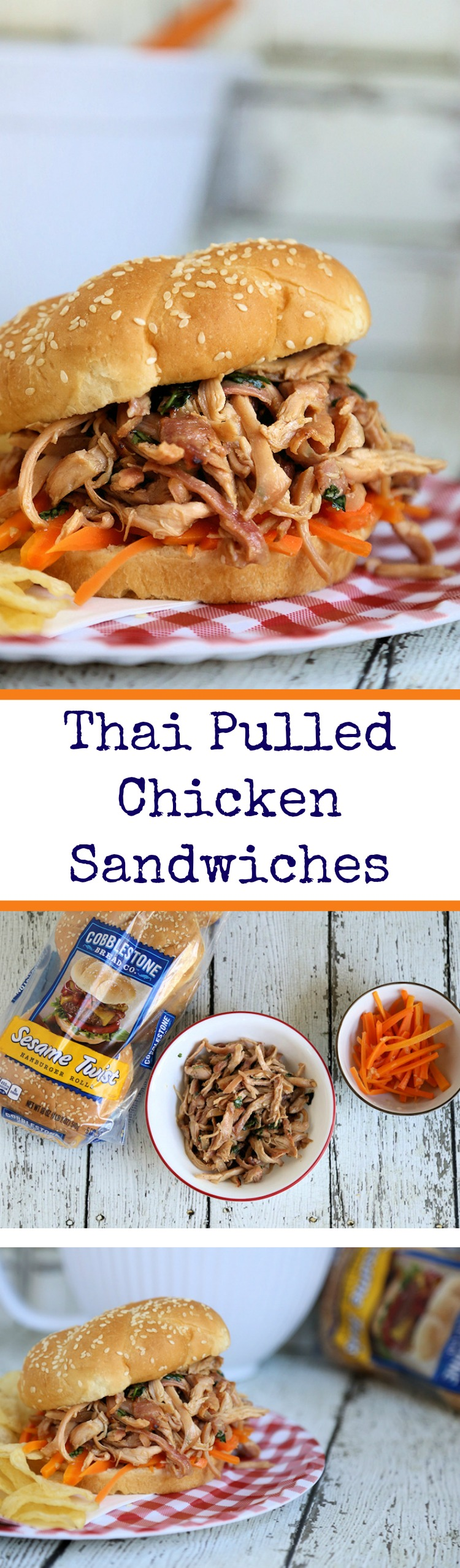 Thai Pulled Chicken Sandwiches