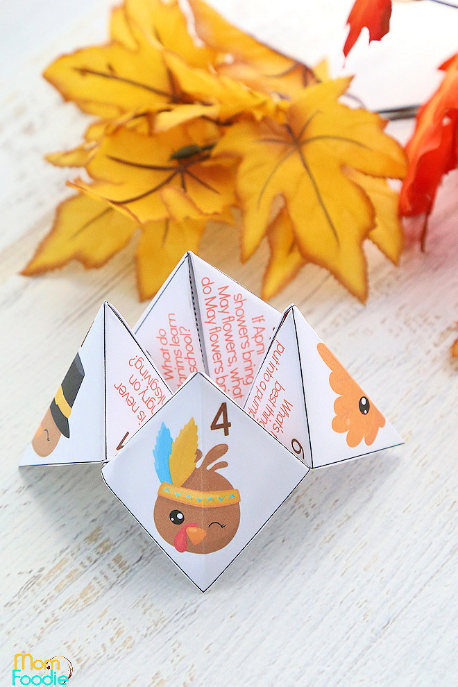 Thanksgiving Jokes Cootie Catcher
