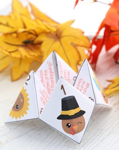Thanksgiving Jokes for Kids Cootie Catcher