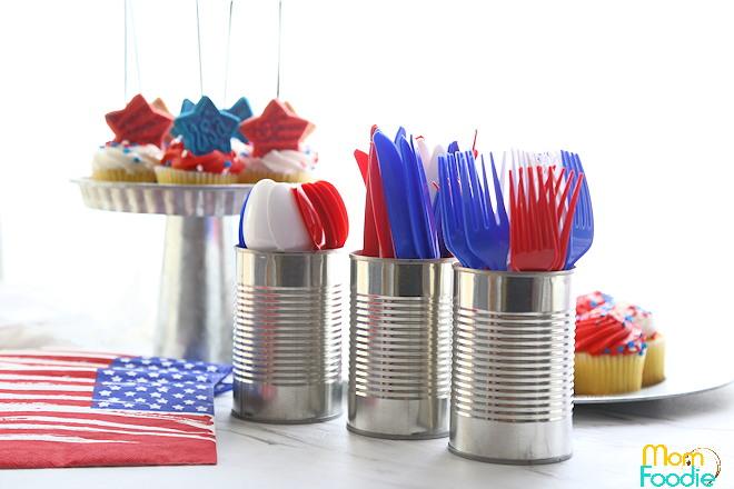 Tin can utensil holders