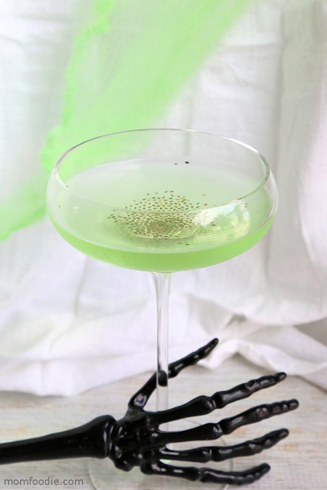 Toxic Spawn Martini - Halloween Cocktail