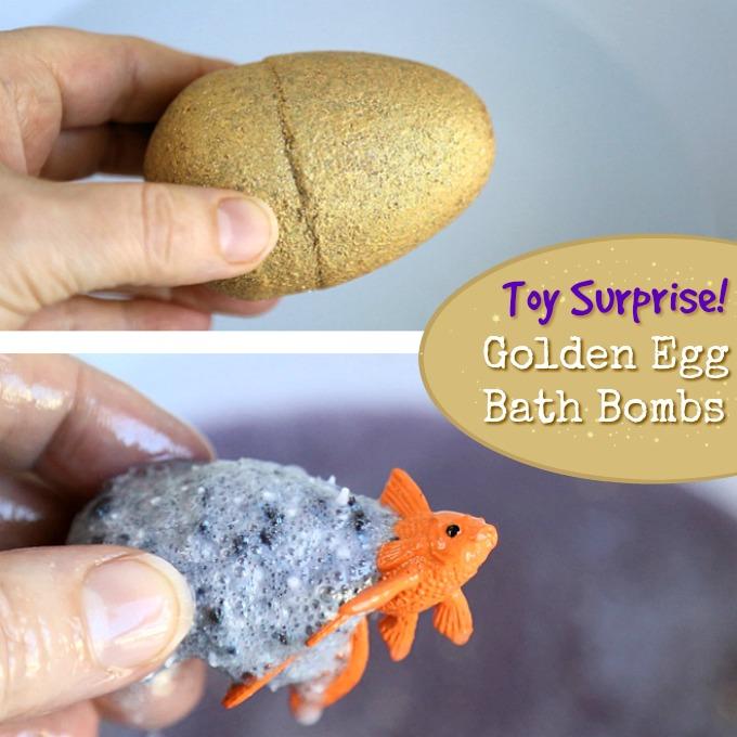 Toy Surprise Golden Egg Bath Bombs