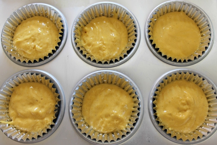 fill cupcake liners no more than half full