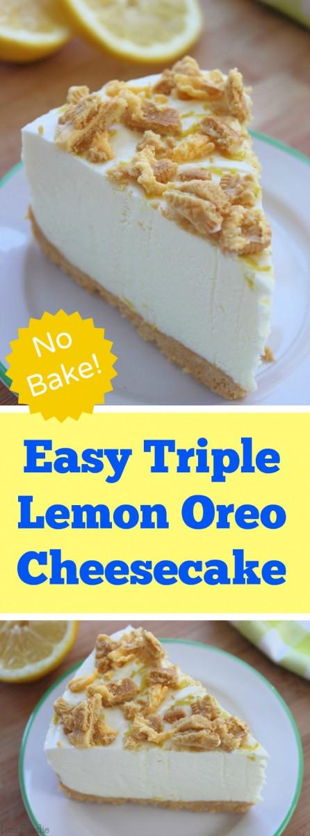 Triple Lemon Oreo Cheesecake - no bake