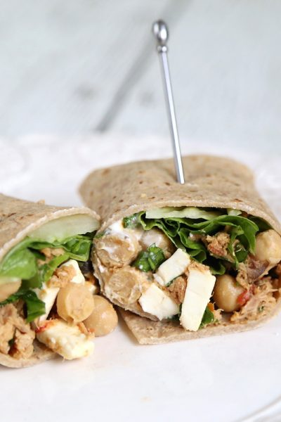 Mediterranean Tuna and Chickpea Wrap