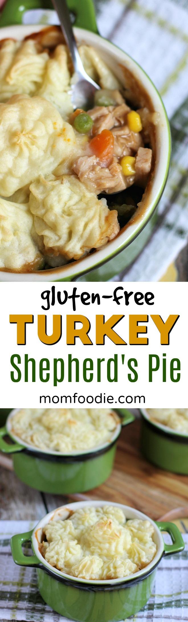 Turkey Shepherd's Pie - gluten free #thanksgiving #shepherdspie #turkey #comfortfood #casserole