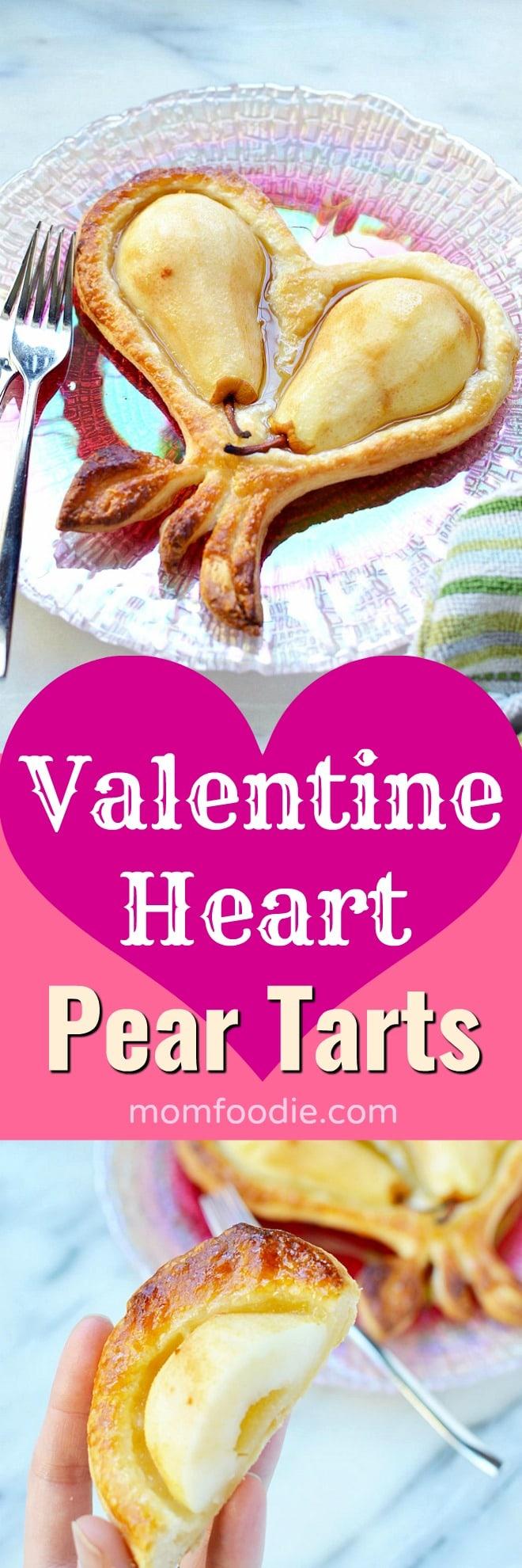 Valentine Heart Pear Tarts
