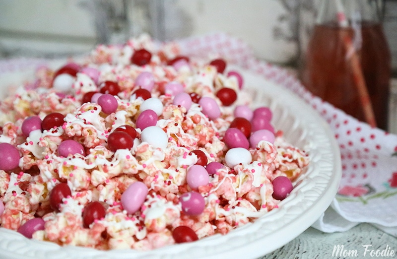 Pink Chocolate Covered Popcorn
