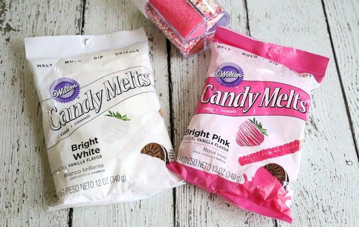 Valentine's Candy Bark melts
