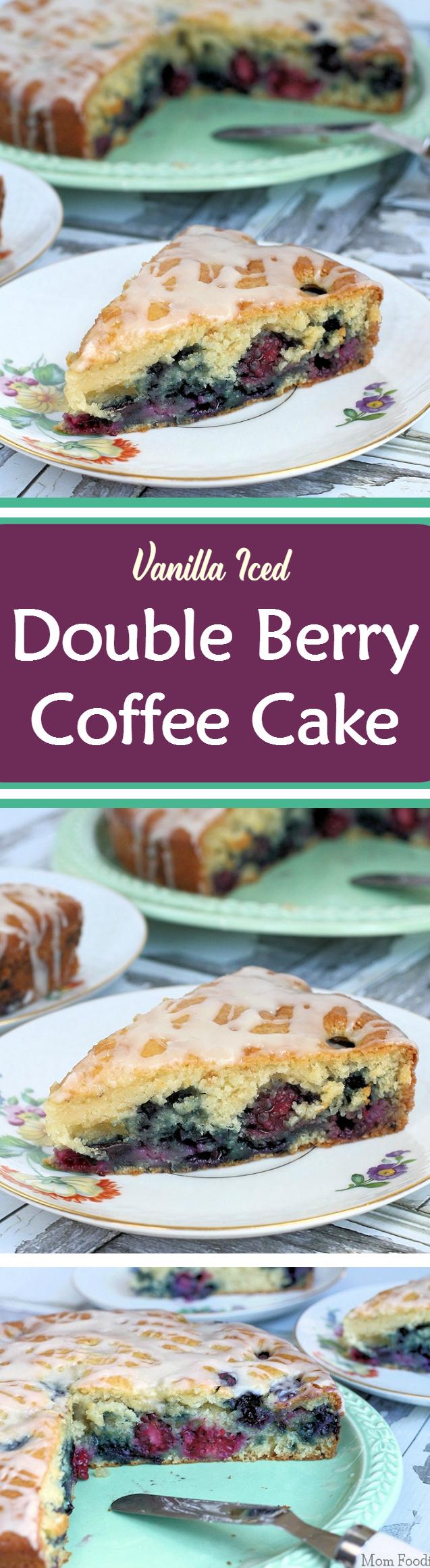 Vanilla Iced Berry Coffee Cake