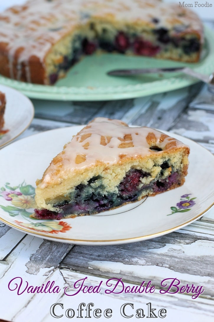 Vanilla Iced Double Berry Coffee Cake Recipe