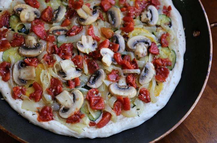 Vegan Roasted Vegetable Pizza