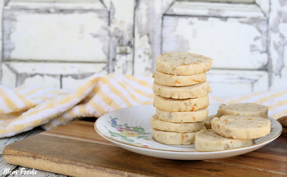 Walnut Meyer Lemon Shortbread Cookies