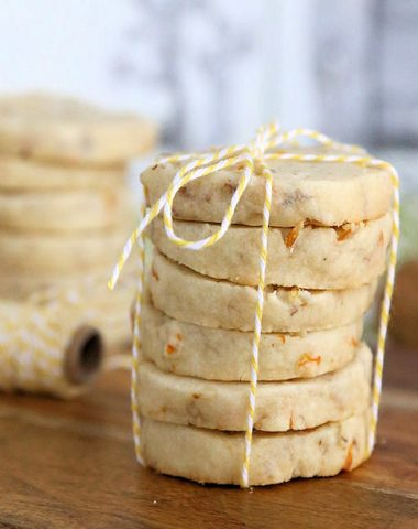 Walnut Meyer Lemon Shortbread Cookies