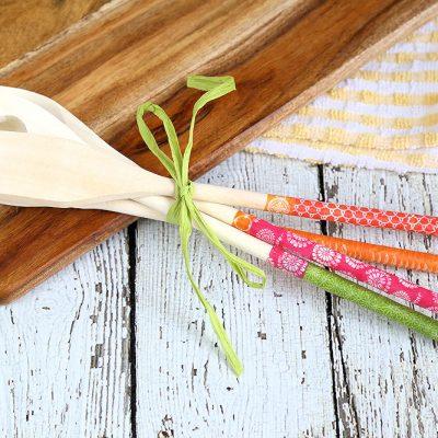 Washi Tape Kitchen Utensils: Easy Homemade Gift