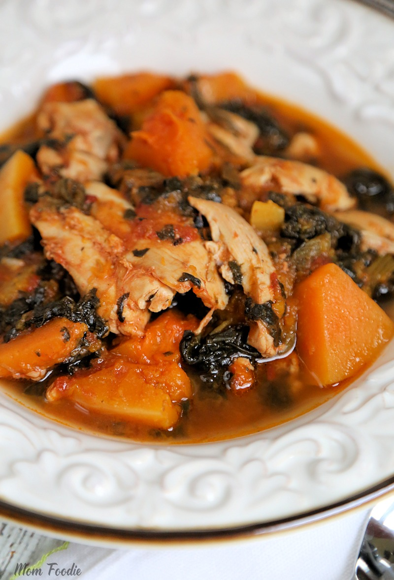 Whole 30 slow cooker chicken thighs w butternut squash for Cooking chicken thighs in crock pot