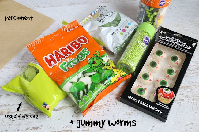 Witches Brew halloween bark supplies