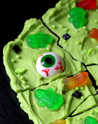 Witch's Brew Candy Bark for Halloween
