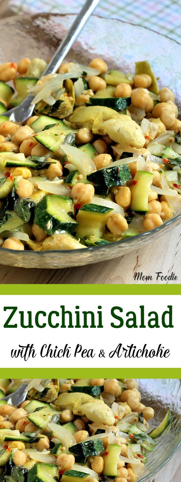 Zucchini Salad with Chick Pea & Artichoke