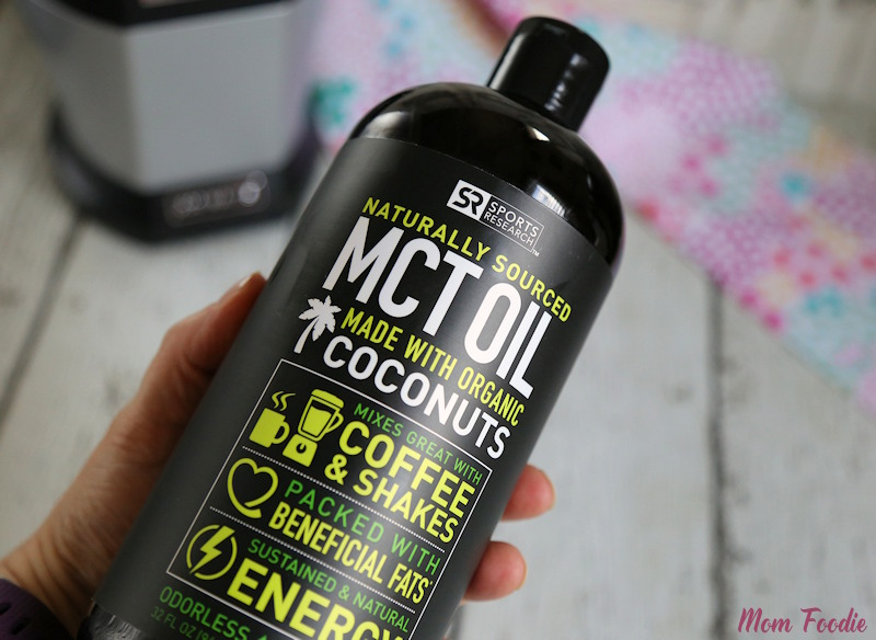 adding mct oil to cranberry smoothie