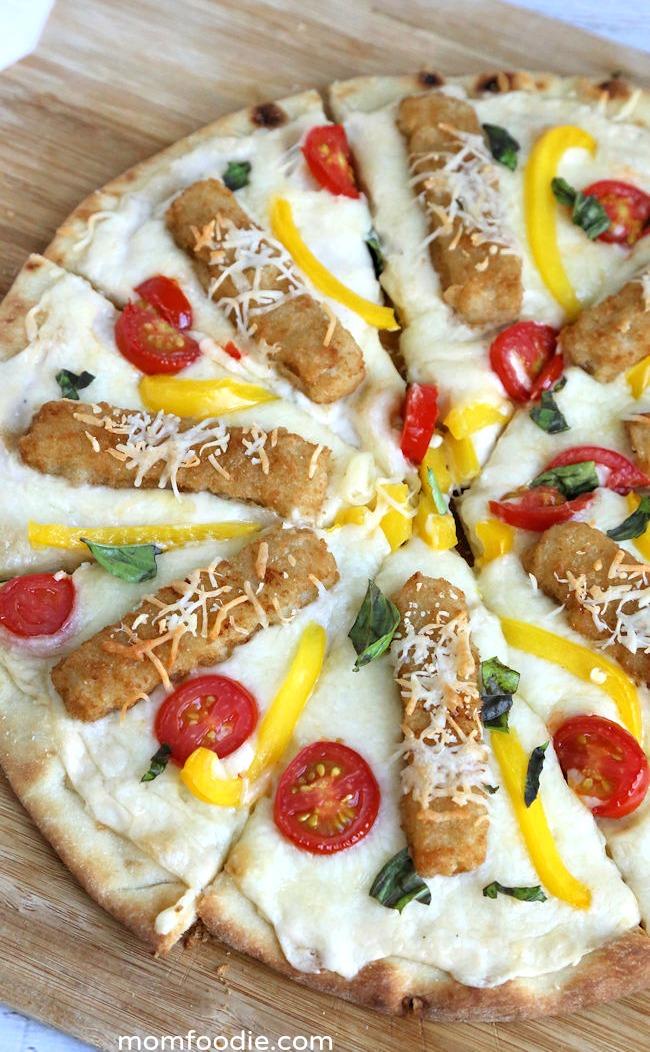 alfredo fish stick pizza