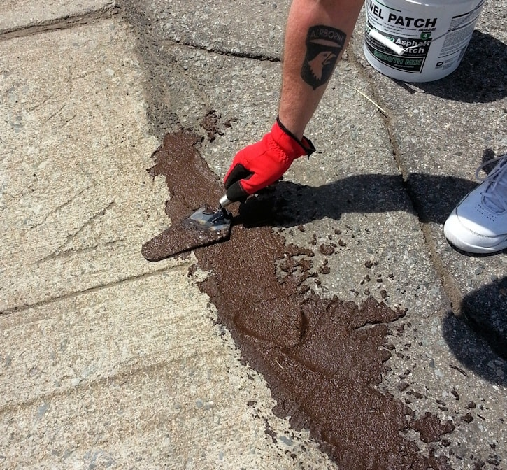asphalt patch application