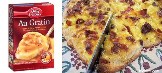 au gratin potato pizza with bacon