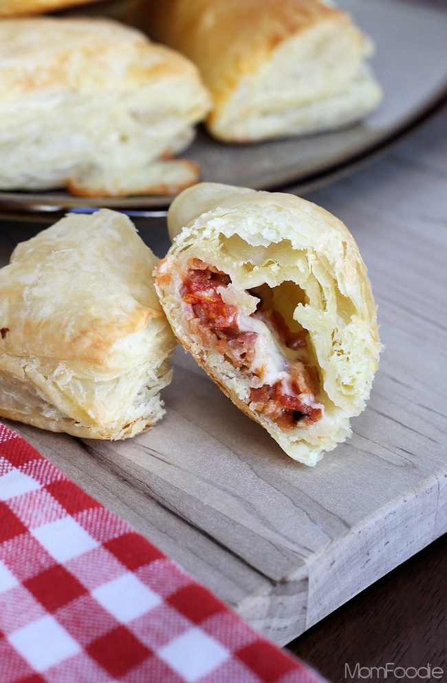 bacon tomato cheddar puff pastry appetizers
