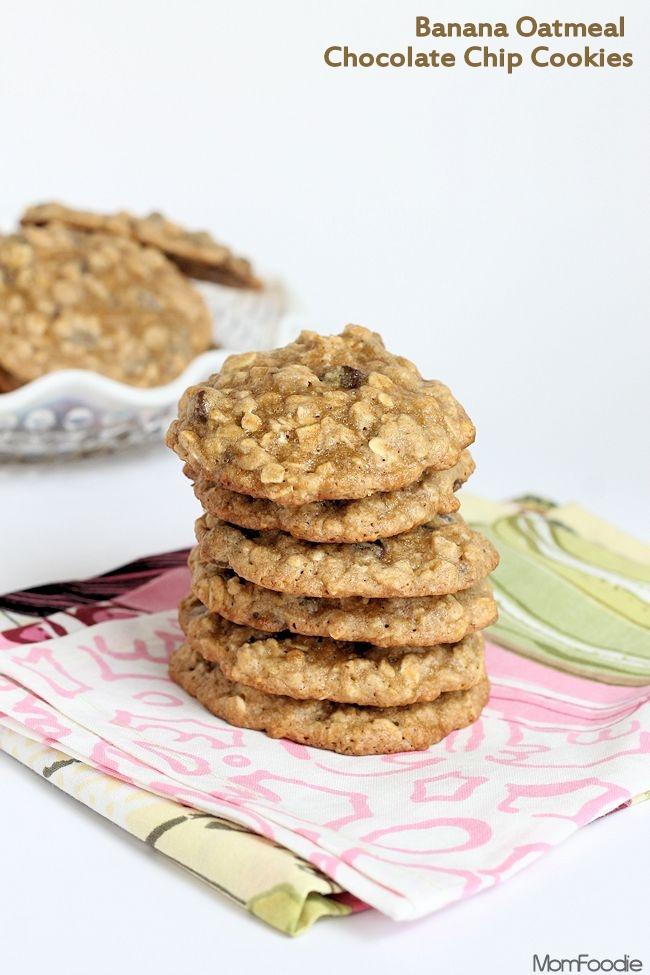 banana oatmeal chocolate chip cookies recipe