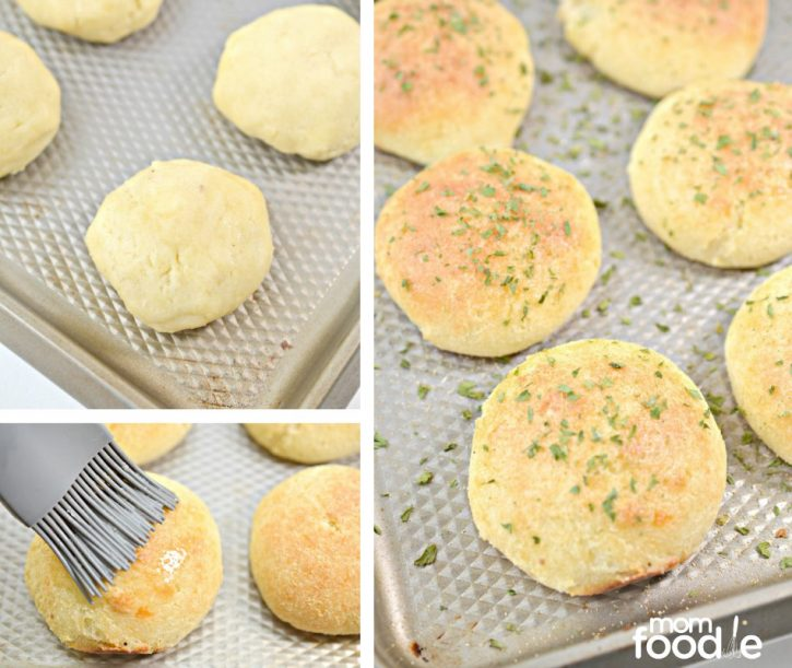 basting keto rolls with butter