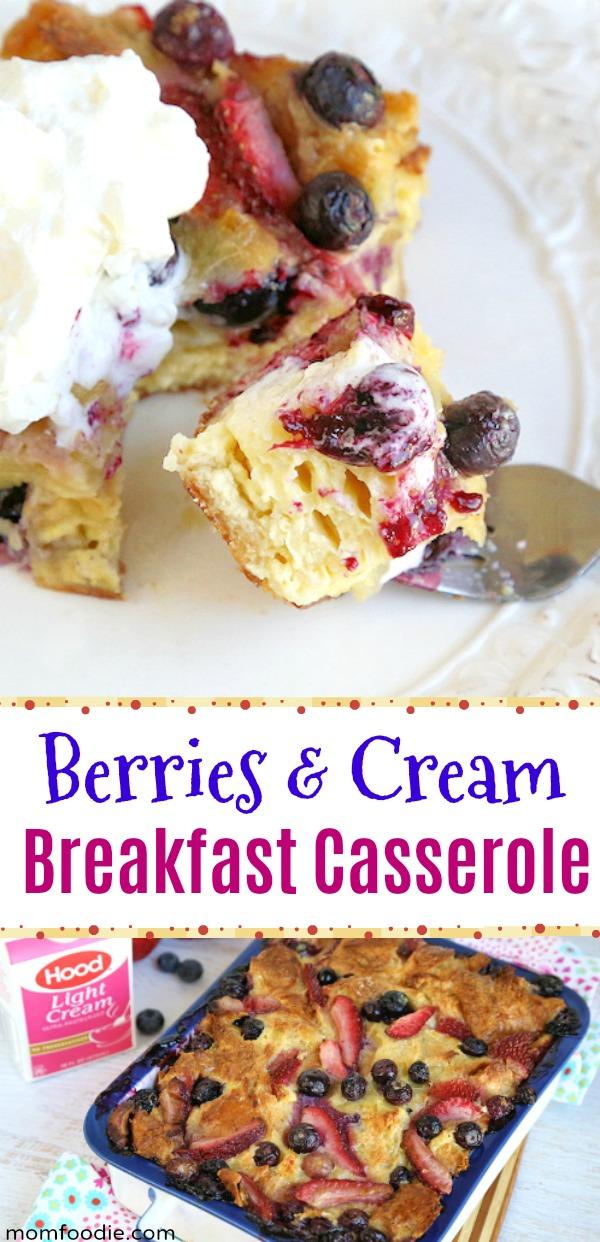 Berries and Cream Croissant Breakfast Casserole Recipe