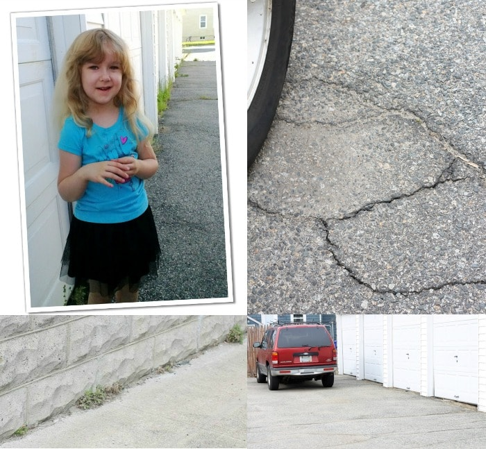 before driveway collage